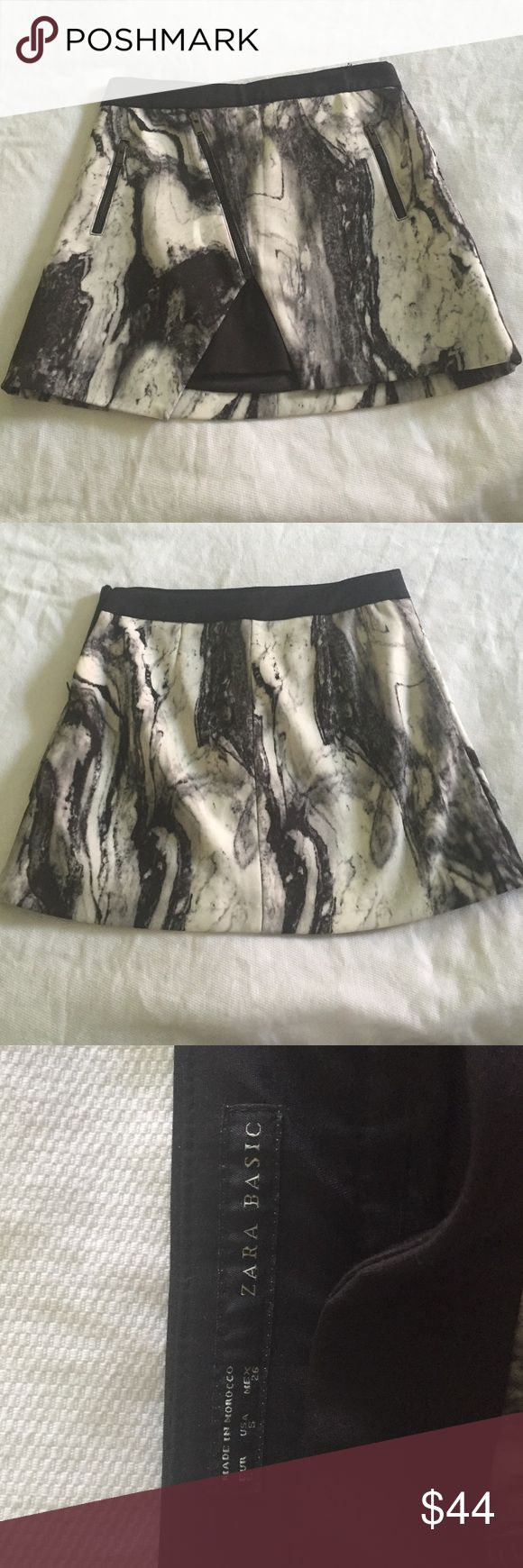 RARE Zara skirt small Never worn RARE black and white marble print Zara skirt, size small Zara Skirts Mini