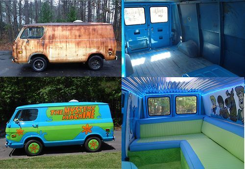 creepy that just a little paint can change the whole persona of this van. via @Humor Train