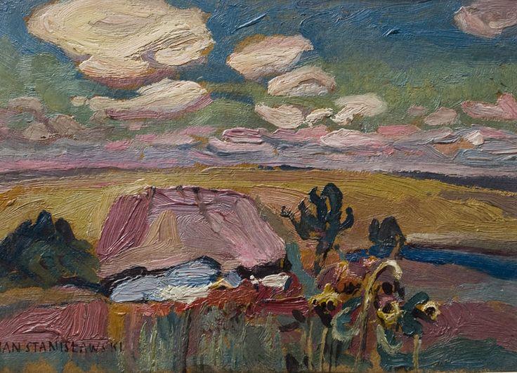 Jan Stanisławski, Ukrainian landscape with sunflowers, 1903 - 1905