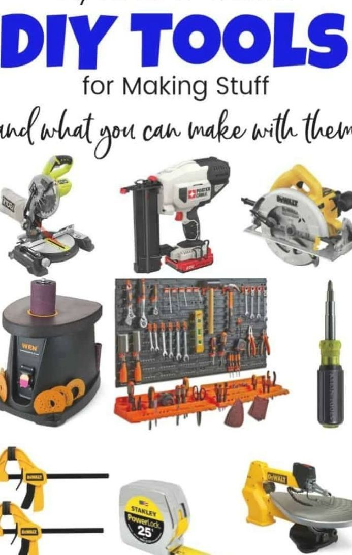 Diy Tools Can Be Fun And Necessary In Any Home Whether You Are A Beginner Looking For A Household Tool Kit Or Ready Diy Tools Power Tools List Power Tool Set