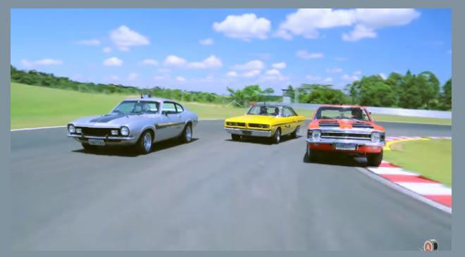 Desafio espetacular e clássico: Opala x Maverick x Charger! E o melhor: nas mãos do Barrichello, Ingo e Paulão!