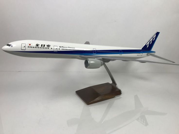 Pacific Miniatures PacMin Precision 1/100 Scale Model Airplane Of ANA All Nippon Airways Boeing 777-300 With Box