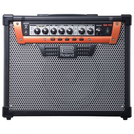 The GA-112 stage amplification system meets the rigorous demands of performing guitarists. Unlike modeling amps that set out to recreate the sound of multiple vintage classics, the GA-112 leverages Roland's renowned COSM technology to create newly-voiced amplifier with versatile, expressive tones and simple, intuitive operation.
