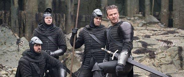 David Beckhamlı Kral Arthur film setinden yansıyanlar