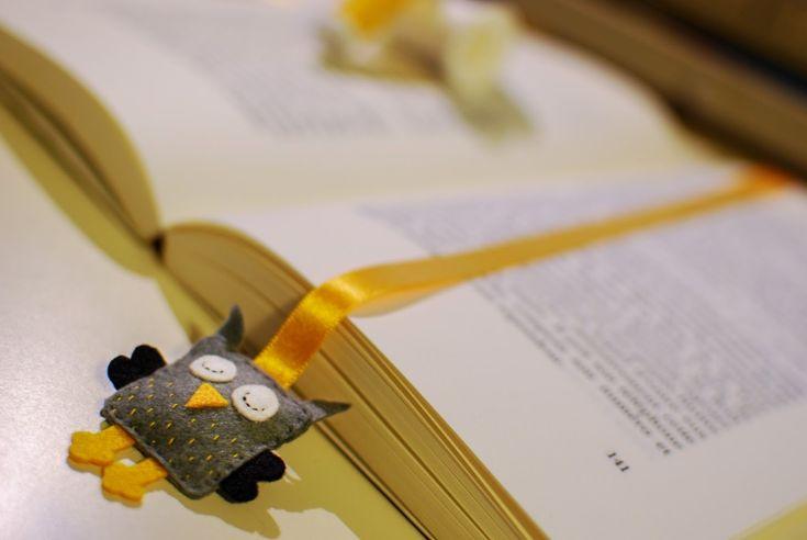 Invitation au fait maison: Un hibou pour marquer ma page