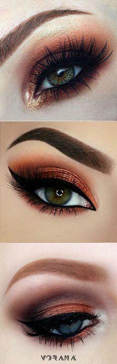 Ojos con sombra Copper. #Trend #Ojos #Sombras #C mopper