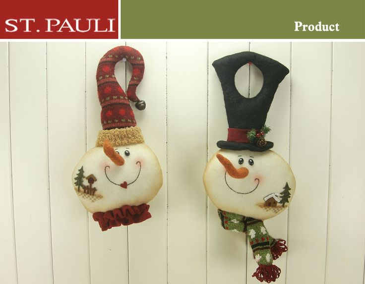 13inch Christmas Door Hanger with Snowman, View christmas door hanger, ST.PAULI Product Details from St.Pauli Garment & Craft Factory(Shantou) on Alibaba.com