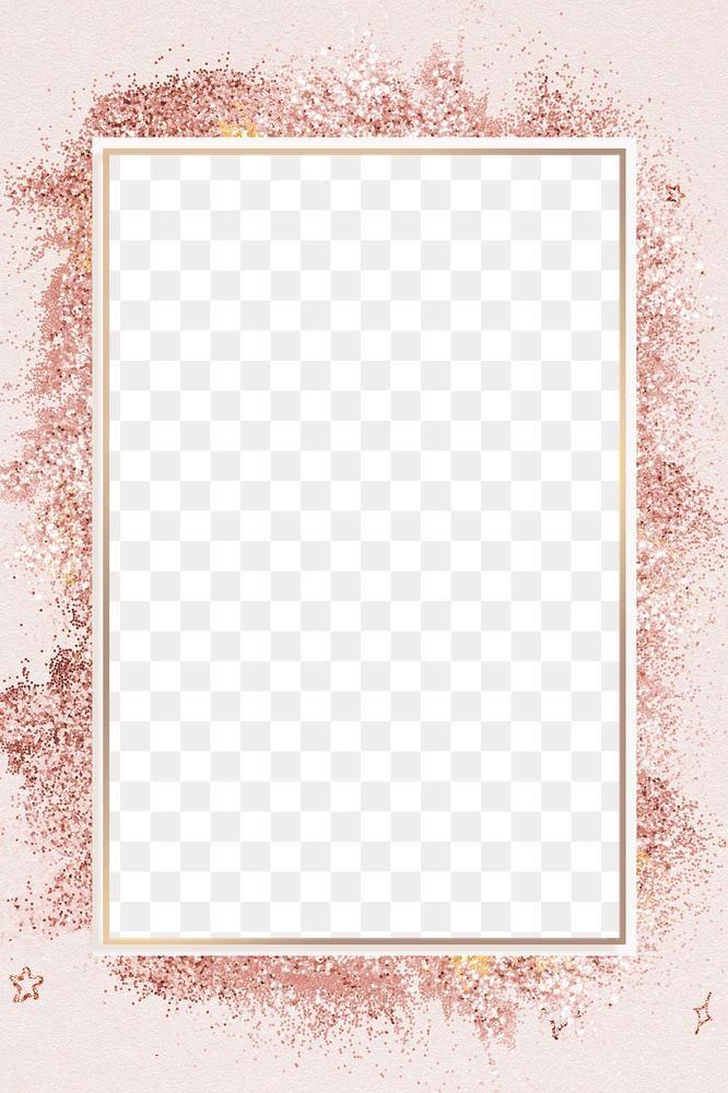Rose Gold Glitter Frame Png Festive Background Premium Image By Rawpixel Com Gade Glitter Frame Rose Gold Backgrounds Gold Glitter Background