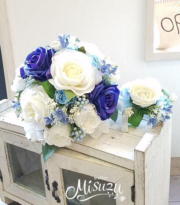 メルカリ商品: シアワセの青!ラウンド・ヘア・ブトニア全部で7点セット 結婚式 ロケ撮 前撮り #メルカリ