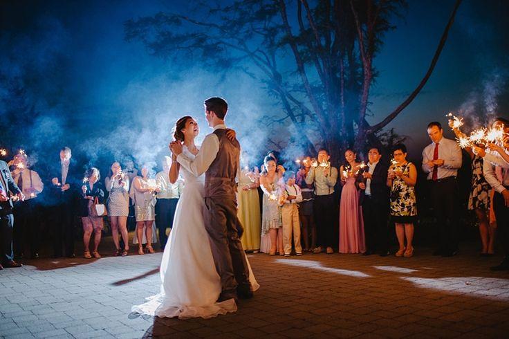 dramatic first dance with smoke - Poets Cove Resort and Spa Wedding - Vancouver Island Weddings
