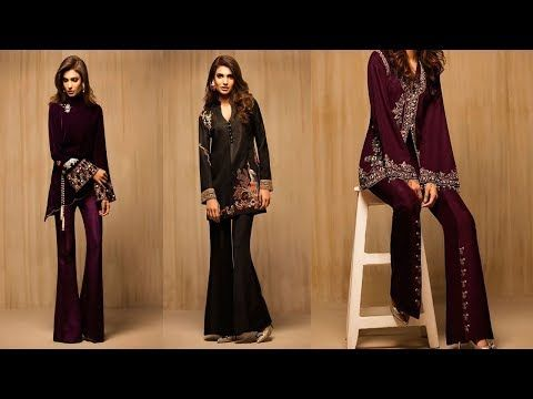 latest pakistani dresses styles pairing bell bottom paints 2018 19 trend