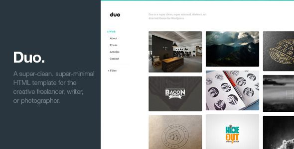 Duo - Unique Minimal Responsive HTML Template