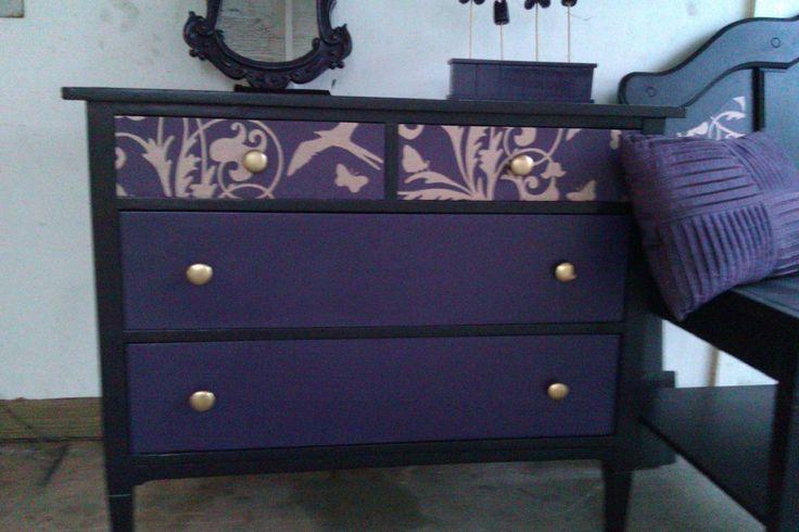 Black and Purple Dresser