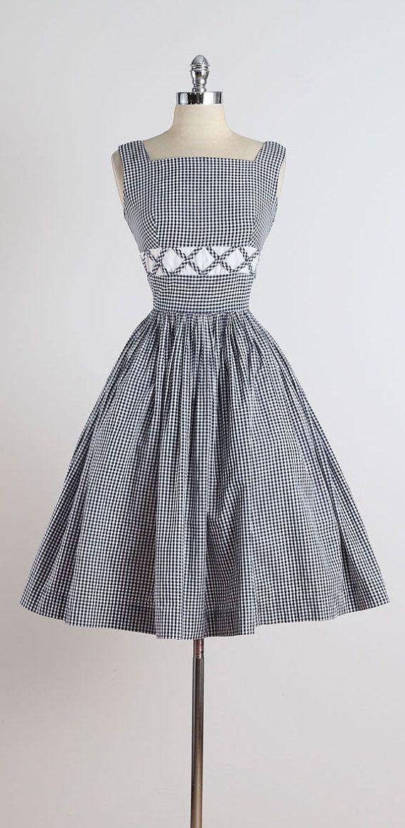 Alma . vintage 1950s dress . vintage cotton by millstreetvintage