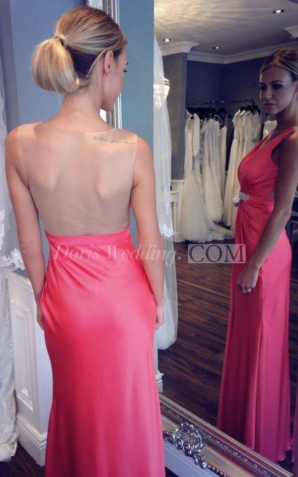 Mejores 129 imágenes de Backless Prom Dresses en Pinterest ...