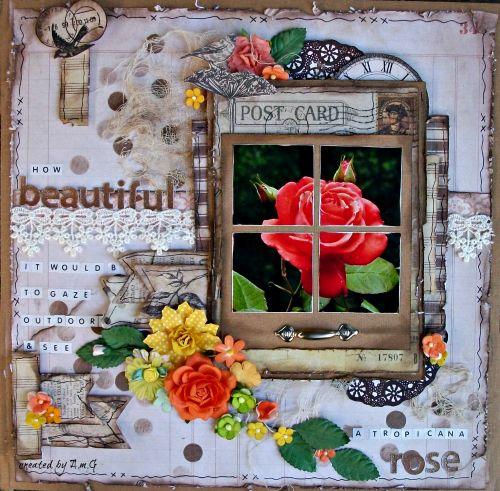 BEAUTIFUL ROSE - Scrapbook.com