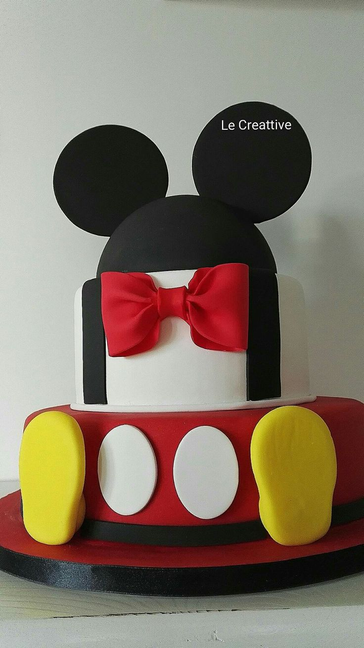 Mickey Mouse Cake By Le Creattive