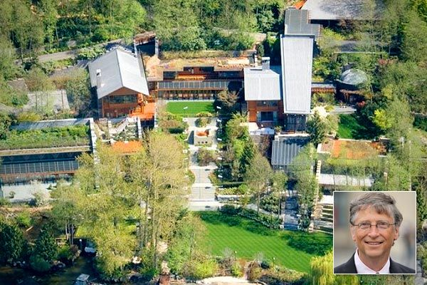 10 of the most expensive celebrity homes bill gates for Most expensive house in washington state