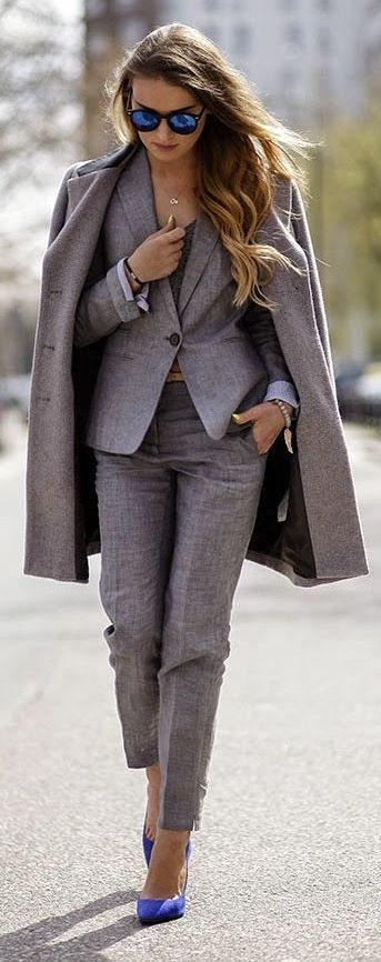 Elegant Grey Winter Suit ▶suggested by ~Sophistic Flair~