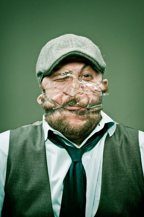 Hilarious Scotch Tape Portraits by Wes Naman