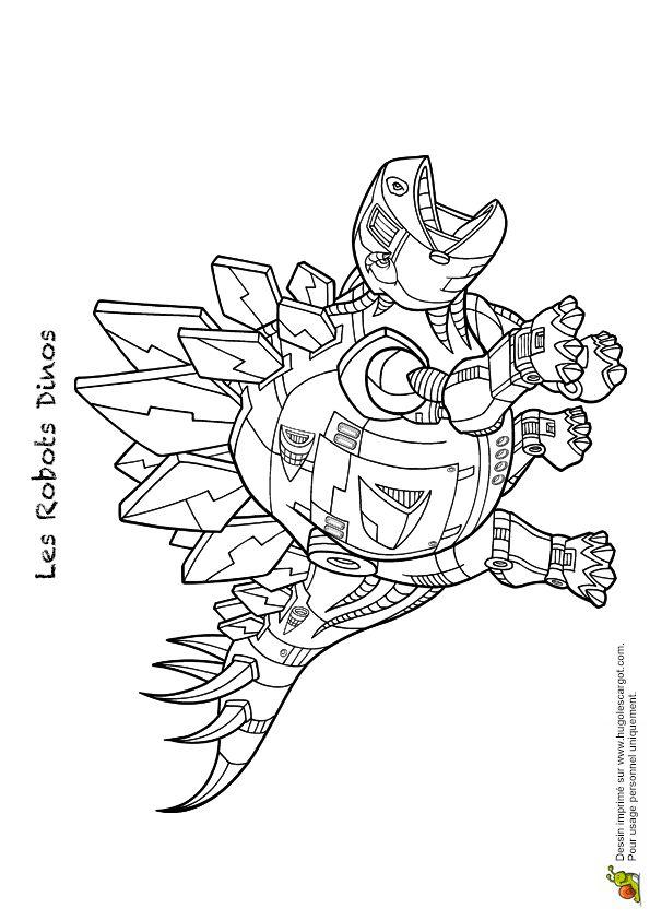 Coloriage robot dino 05 sur Hugolescargot.com ...