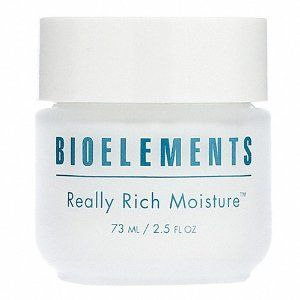 Bioelements Really Rich Moisture, 2.5-Ounce by Bioelements. Save 17 Off!. $35.22. Extremely rich yet non-greasy. Power-packed with natural emollients. Leaves skin feeling comfortable - never taut or dry. Extremely rich yet non-greasy crème that corrects dryness by saturating skin with a complex of natural emollients that trap moisture into surface layers. Helps replenish rundown moisture reserves and repair surface micro-cracks that cause flaking and dryness. Skin becomes visibly smoother…