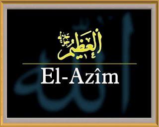Pek azametli olan yüce sıfatlar sahibi ulu Allah'dır. Büyüklüğü sınırsız, bütün noksanlıklardan arınmış, ulu ve kıymetli anlamlarını taşır.