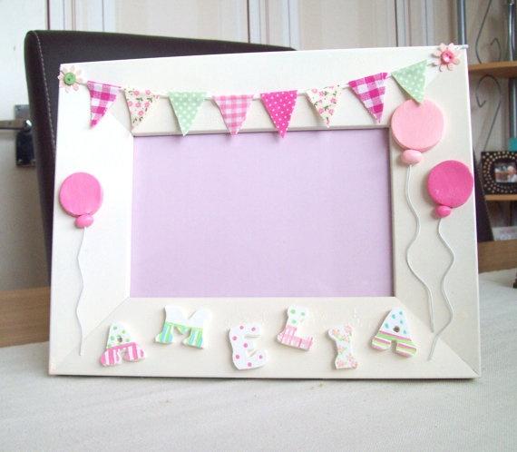 girls' birthday frame