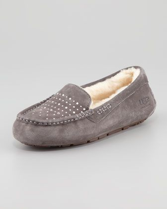 Ansley Bling Moccasin Slipper, Gray by UGG Australia at Neiman Marcus.