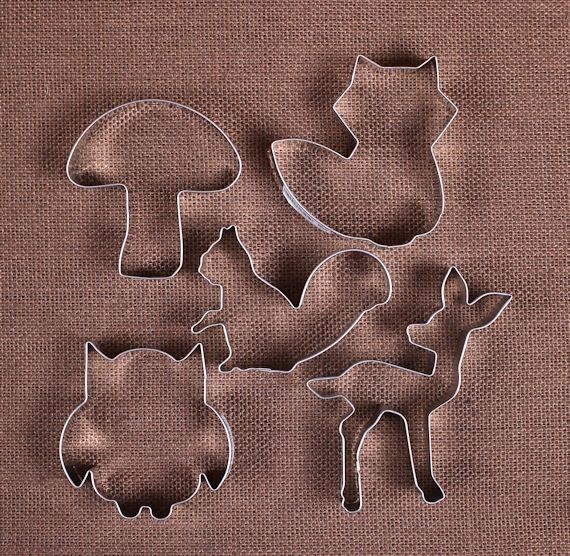 Use our woodland animals cookie cutters set to make fun sugar cookies for…