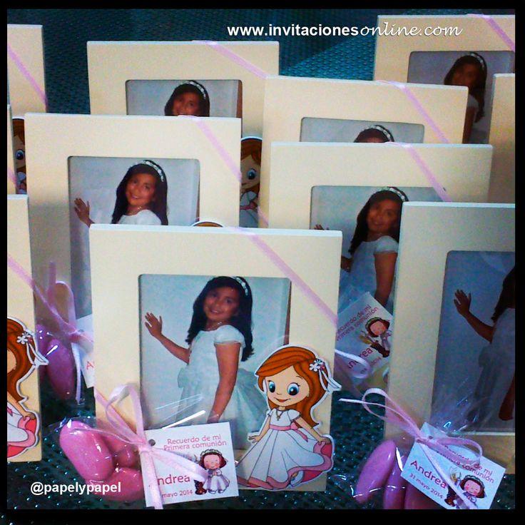 Primera comunión niña marco de fotos niña comunión detalls Barcelona comunió