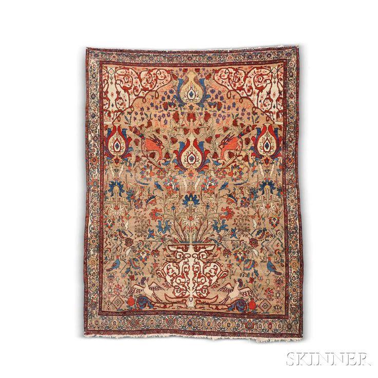 Antique Sarouk Prayer Rug, Iran, c. 1880.   Auction 2942T   Lot 175   Sold for $12,300