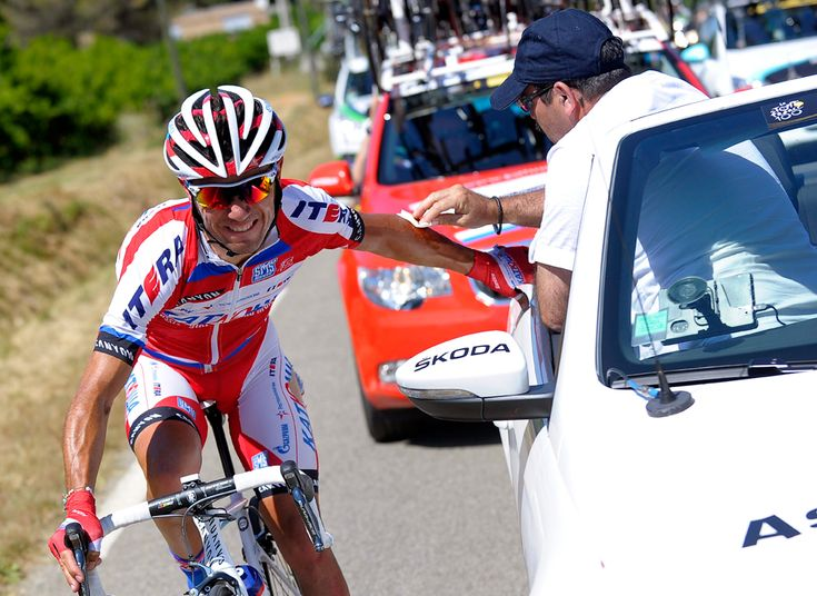 Spanish rider Joaquim Rodriguez of the Katusha procycling team receives treatment during the 6th stage of the 100th edition of the Tour de France cycling race between Aix-en-provence and Montpellier on June 4. (Nicolas Bouvy/European Pressphoto Agency - See more at: http://www.boston.com/bigpicture/2013/07/tour_de_france_100th_edition_p.html#sthash.NBeqwlIC.dpuf