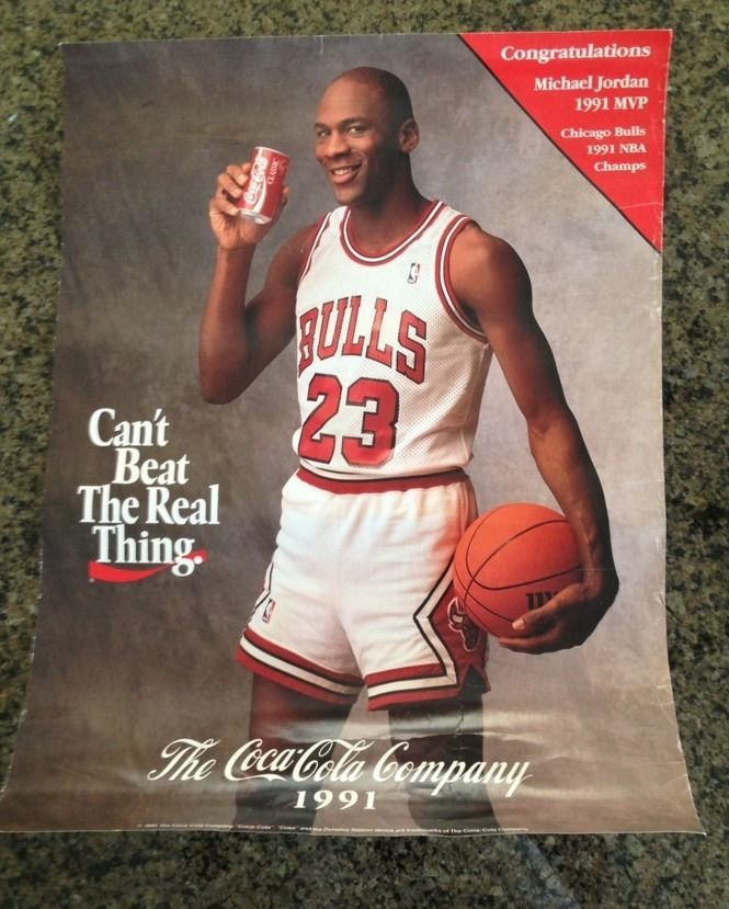 Motivational Quotes For Sports Teams: Coca-Cola Michael Jordan Poster