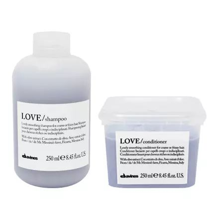 Davines Official Site   Natural Hair Care Products Love Smoothing Shampoo and Conditioner