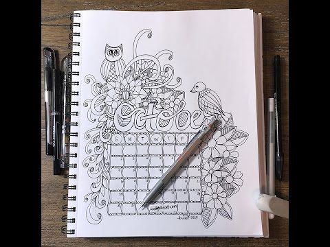 October 2016 Calendar Doodle - YouTube