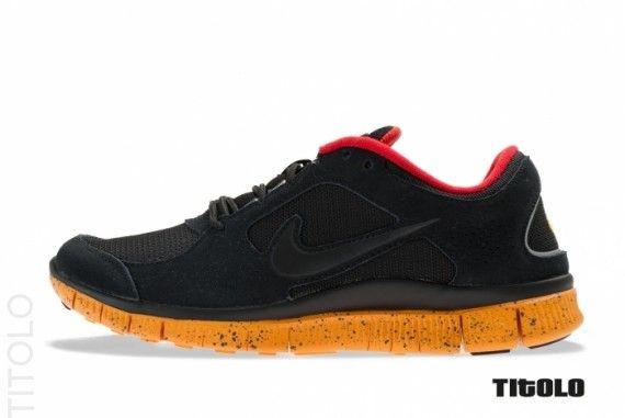 Nike Free Run+ 3  Black-Canyon Gold-University Red