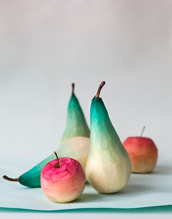 dyed fruits