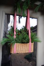 This would look great in the living room windows with twinkle lights added to them  off to the thrift store.for baskets