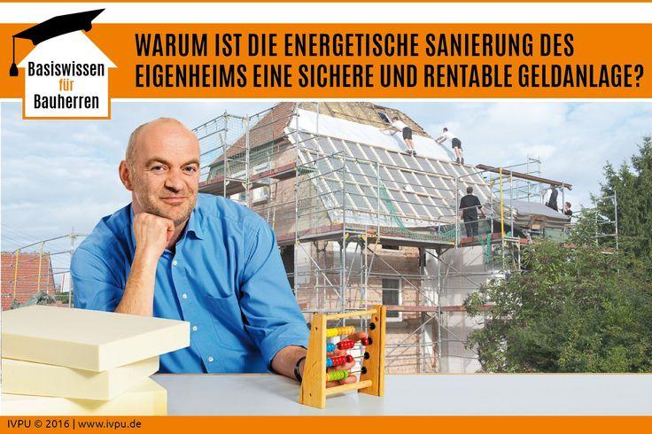 """Es lohnt sich nachzurechnen, wie sich die sogenannte """"Dämmrendite"""" auf den eigenen Spar- und Lebensplan auswirkt. In eine energetische Sanierung investieren, die eigene Wohnqualität verbessern, den Heizenergieverbrauch spürbar senken und dabei noch den Wert der eigenen Immobilie steigern – ein gutes Gefühl! Bauen, Energiewende, Sanieren, Renovieren, Dämmung, Dach, EnEV, Polyurethan, Dämmstoffe, Energieberatung, Energieeffizienz, Bauphysik, Wärmedämmung, IVPU, PUonline"""