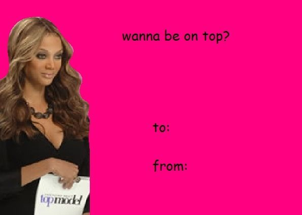 Valentines Day Cards Americas Next Top Model Be Mine Funny