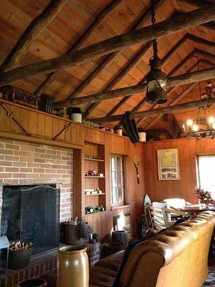 Wood beams & lantern