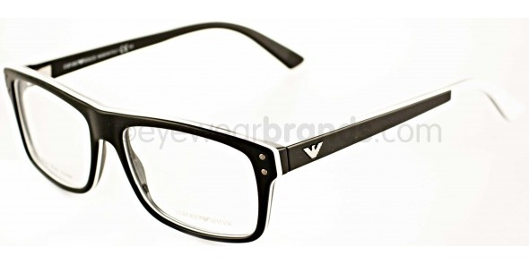emporio armani ea9866 h54 blackwhite emporio armani glasses free lenses uk opticians eyewear pinterest eyewear