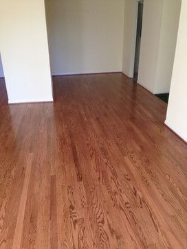 Red Oak Floors Stained With Early American By Minwax Red