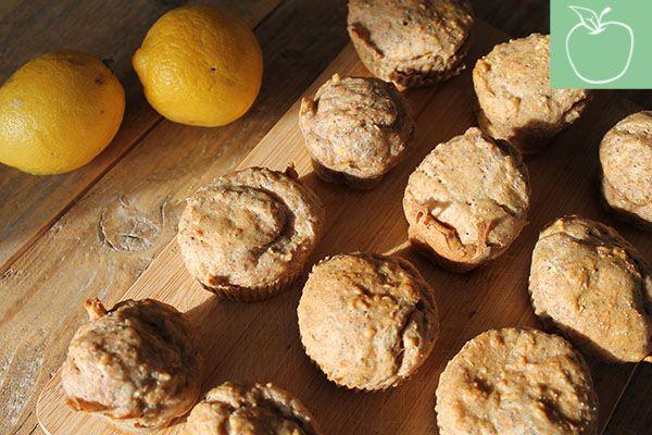 Citroen maanzaad muffins, gezond bakken. Lactose-, suiker,- en glutenvrij. -