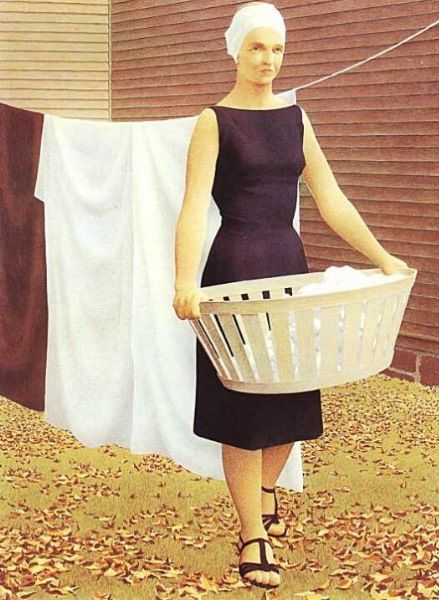 Woman with a Wash Basket  Alex Colville
