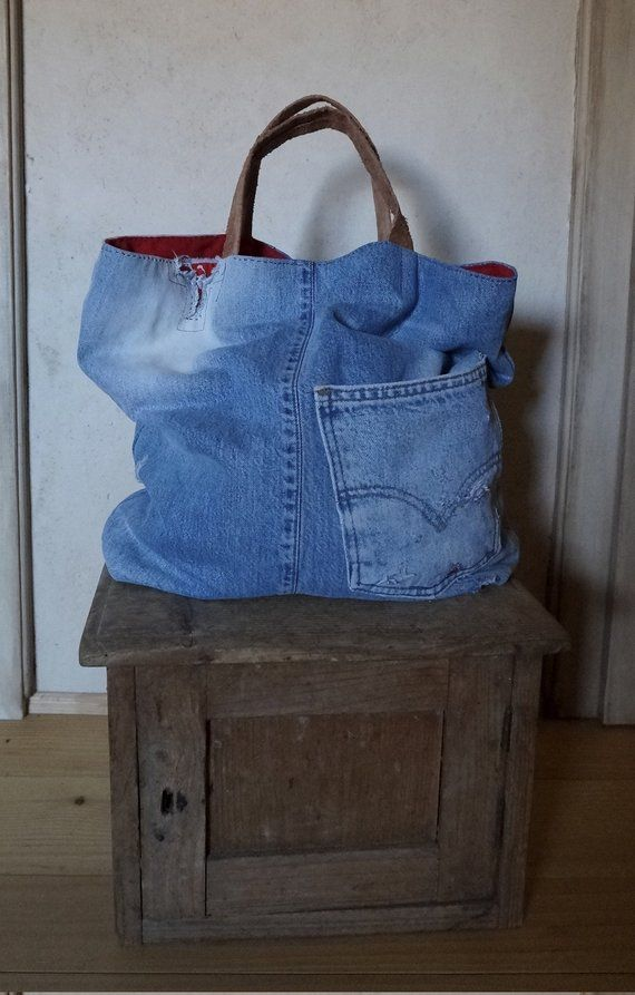 39baa56270 Denim bag jeans bag red bag denim handbag shoulder bag