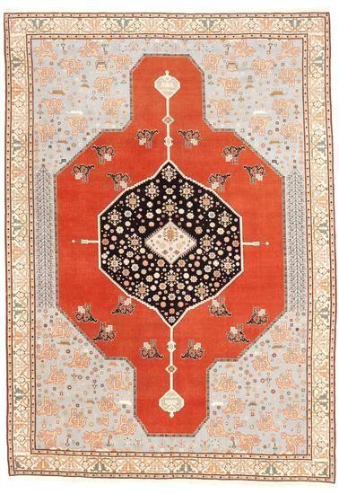 "Semi Antique Turkish Serapi Rug (8'7""x 12') Treniq Rugs. View thousands of luxury interior products on www.treniq.com"