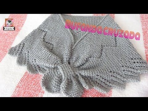 Cómo Tejer CHAL ESPECTACULAR - Easiest Shawl Pattern - 2 agujas - YouTube
