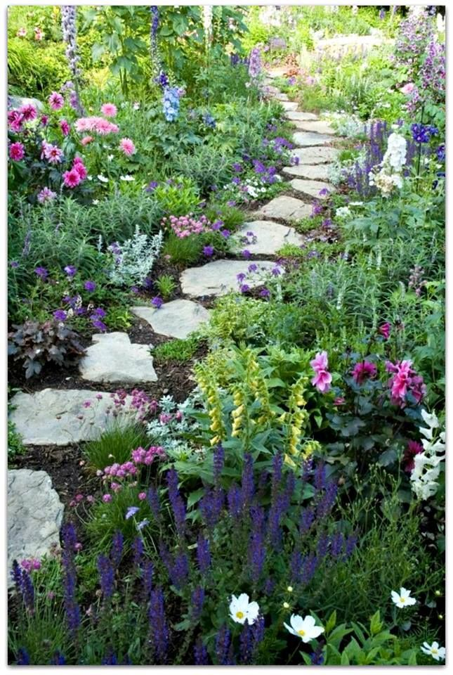 719 best stone path ideas images on pinterest for Stone stepping stones for garden paths